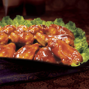 Our BBQ Chicken Wings at Al Safa Foods are fully cooked, cut up with tips removed and covered in a sweet and tangy sauce.