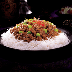 Our Ready to Eat Beef Keema with Ginger Garlic Pilaf at Al Safa Foods is gluten free, has no preservatives and 0g trans fat.