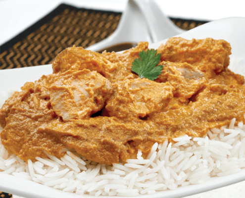 Our Ready to Eat Chicken Tikka Masala with Basmati rice at Al Safa Foods is gluten free, has no preservatives, all natural, and has 0g no trans fat per 255g