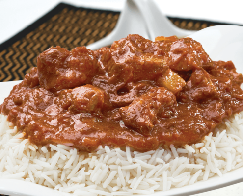 Our Ready to Eat product Lamb Vindaloo with Rice at Al Safa Foods is gluten free, all natural, no preservatives and and minimally processed.
