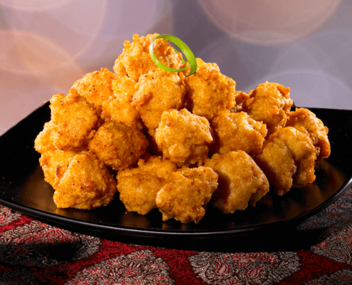 Our bite size Popcorn Chicken at Al Safa Foods have no preservatives, no artificial colours, a good source of iron, and made with chicken breast meat.