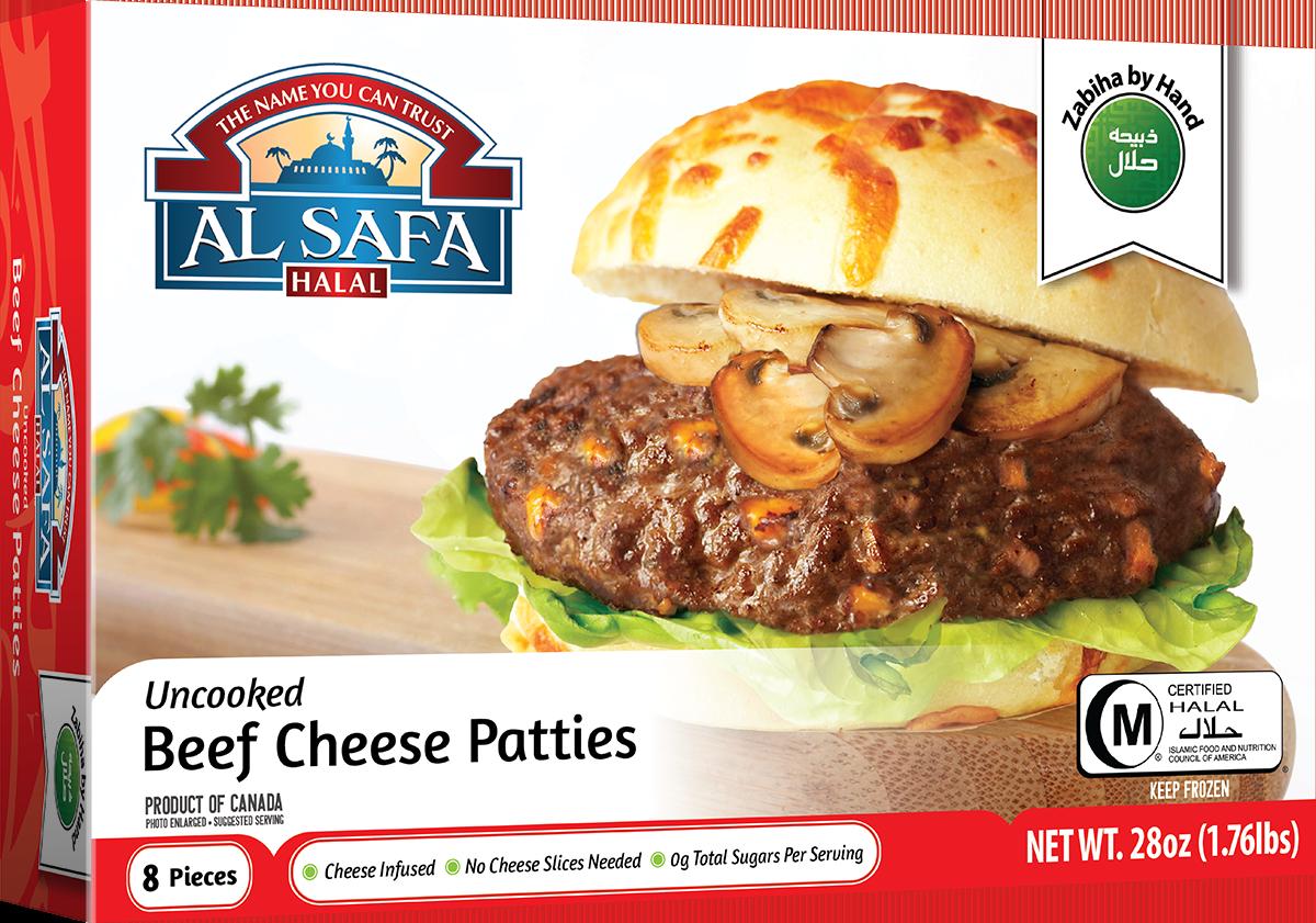 Al Safa Halal Beef Cheese Patties