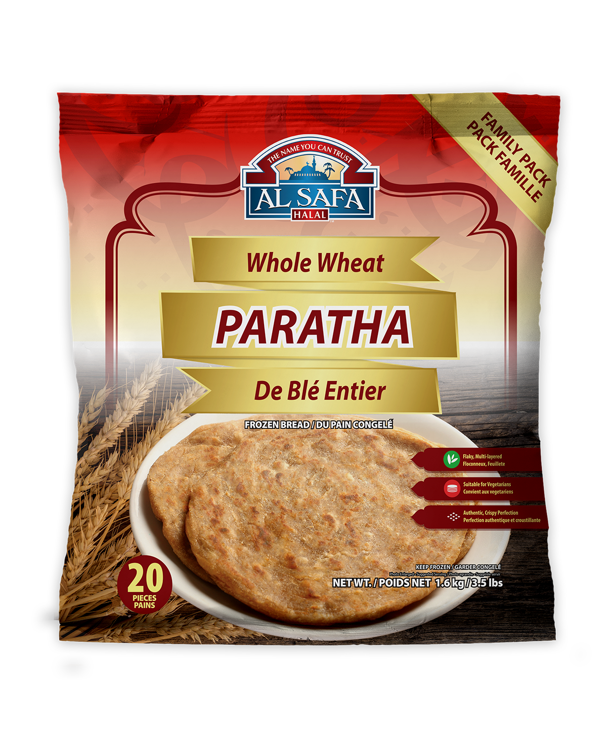 Al Safa Flatbread - Whole Wheat Paratha